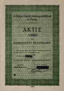 A. Glaser 1932 Penig Dresde Dobritz Veb Modedruck Saxe 100 Rm Textile Hesse-afficher Le Titre D'origine Gagner Les éLoges Des Clients