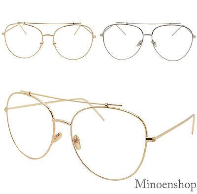 Sonnenbrillen Kleidung & Accessoires Aufrichtig Qualität Überdimensional Querstange Klassisch Piloten Klarglas Brille Herren