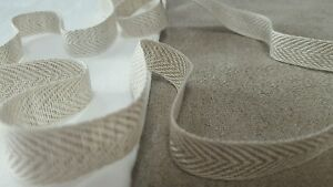 2m 100 LINEN 16mm woven  tape trim ribbon webbing  crafts sewing Quality - <span itemprop='availableAtOrFrom'>Bury St. Edmunds, United Kingdom</span> - 2m 100 LINEN 16mm woven  tape trim ribbon webbing  crafts sewing Quality - Bury St. Edmunds, United Kingdom