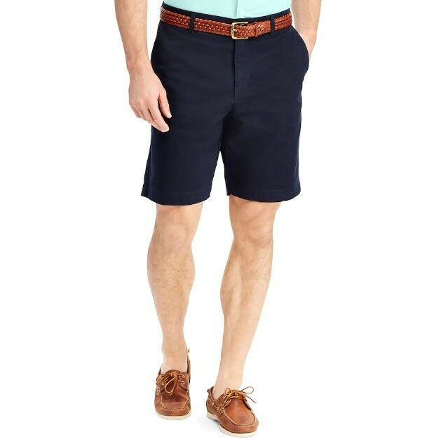 Chaps Classic-Fit Stretch Size 40x9 Inseam American Navy 100% Cotton Shorts New
