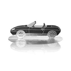 Modellino Sagoma Incisa Auto Fiat Barchetta in Acciaio Inox