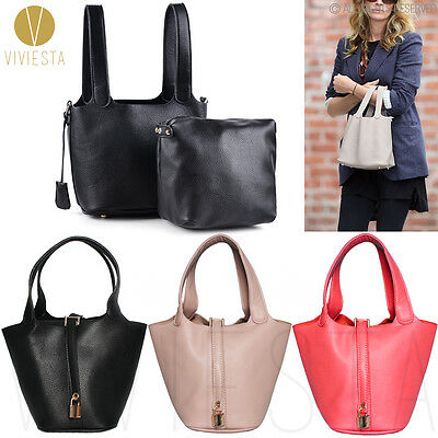 CLASSIC MINI BUCKET TOTE Women's Famous Brand Designer Inspired PU Basket Bag