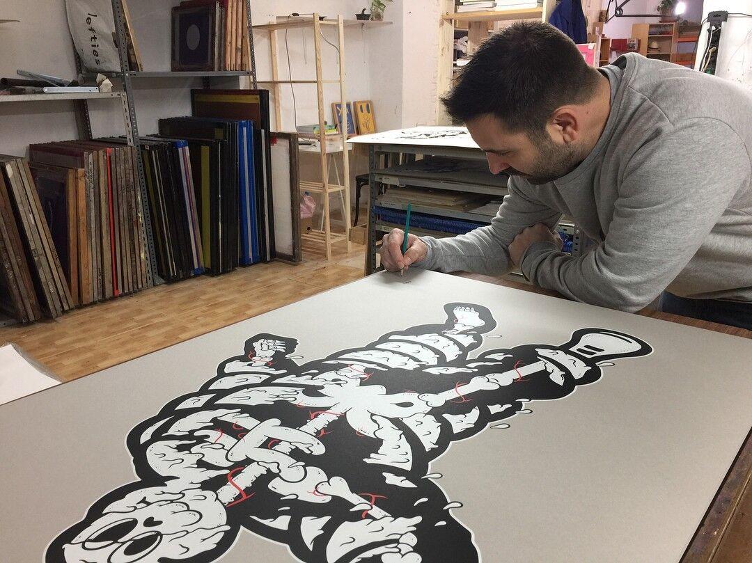 Cote Escriva Escriva Escriva Melted Michelin limited 50 print 102x72cm Creepy Art edcd1c