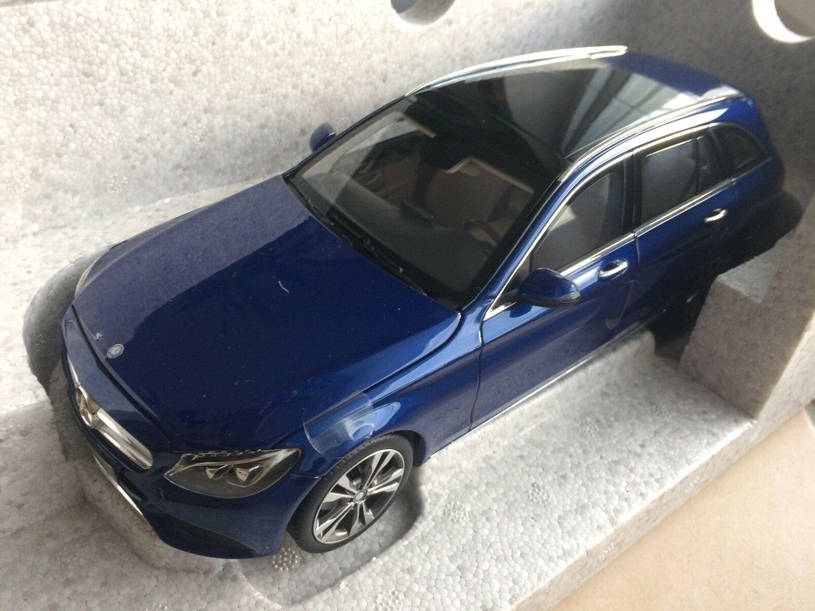 1 18 Norev Mercedes C Klasse T Model brilliantblau metallic Neu OVP 6 x öffnend