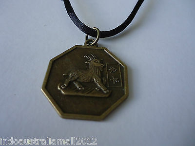 Chinese Zodiac GOAT Symbol with BAGWA Bronze Pendant Necklace(FS-P33)