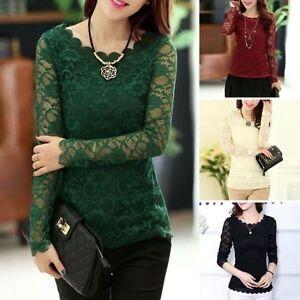 Colorful-Women-Summer-Loose-Casual-Chiffon-Long-Sleeve-Lace-T-Shirt-Tops-Blouse