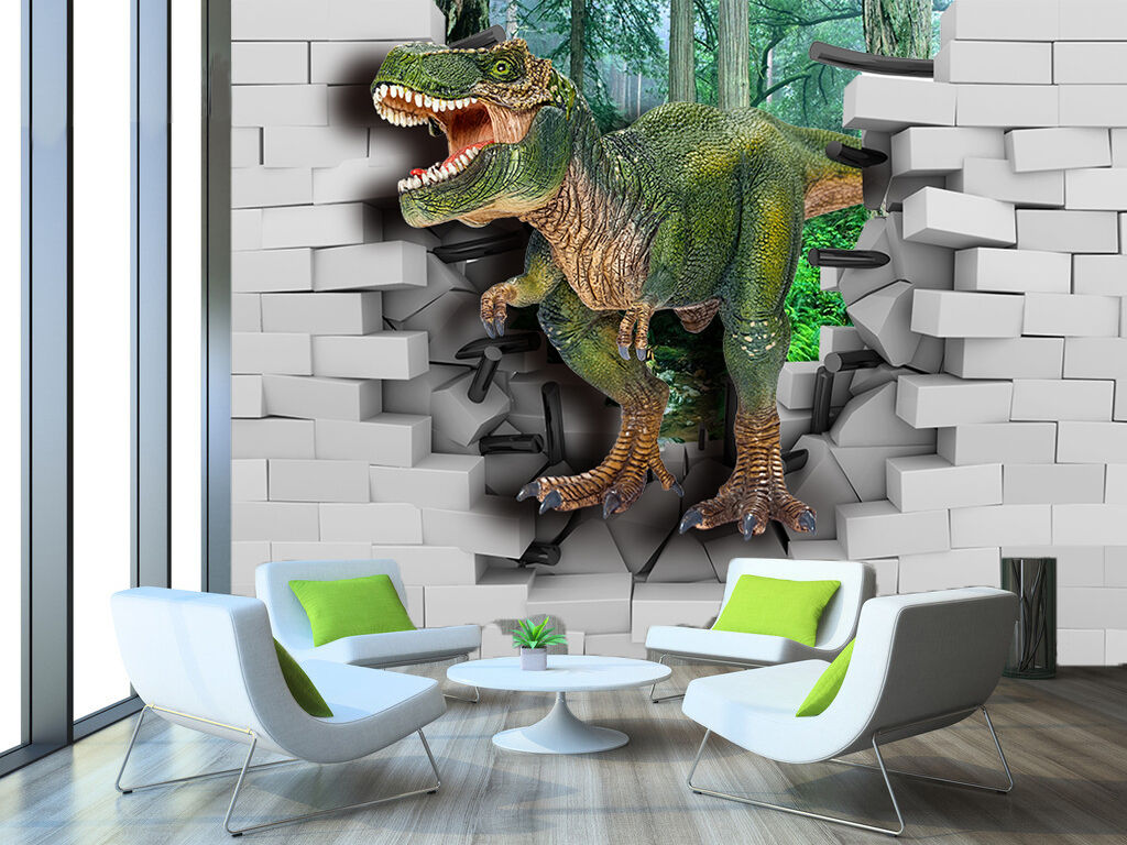 3D Carnivorous dinosaurs Wall Paper Print Wall Decal Deco Indoor Wall Murals