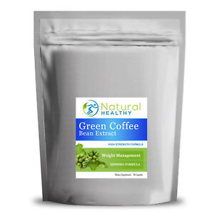 1000 Green Coffee Bean Extract Capsules Gcb 1000mg Caffeine Fat