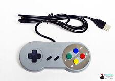 * Super Nintendo SNES Style-controlador controlador para juegos USB para PC y Mac *