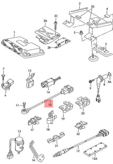 Genuine Knock Sensor With Wiring Harness Vw Audi Beetle 022905377