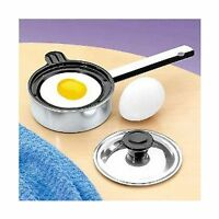 Individual Single Egg Poacher Non Stick Aluminum With Cover Free Shipping