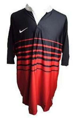 BNWT NIKE MENS BLACKRED DRIFIT RUGBY SHIRT TOP SIZE LARGE