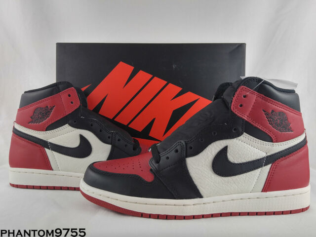 844bee72bc4e Nike Air Jordan Retro I 1 High OG 2018 Bred Toe Gym Red Black White 555088