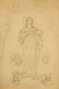 Jean-Marie-M-DOZE-1827-1913-Marienendarstellung-Putten-Sainte-Vierge-Marie