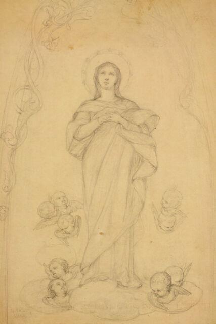 Jean-Marie M. DOZE (1827-1913): Marienendarstellung Putten Sainte Vierge Marie