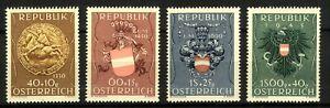 Austria-1949-Relief-Fund-Set-40-10g-to-1s60-40g-sg1170-3-cv-90-4v-UM-Stamp