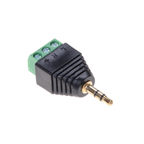 3.5mm Stereo Phone Audio Male Plug Connector Adapter to Terminal Dual Channel G$
