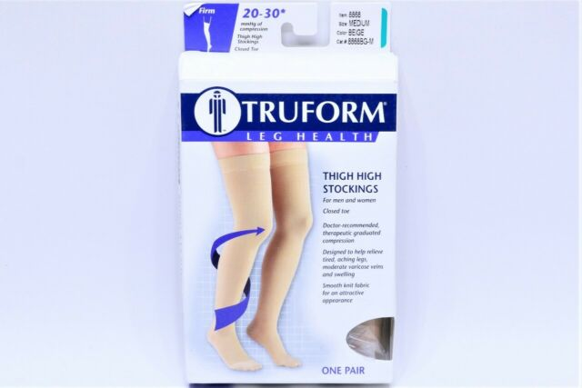 b381ebe9c1a Truform 8868 Closed Toe Thigh High 20-30 mmHg Compression Stockings ...