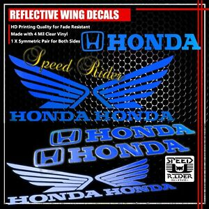 LEFT-RIGHT-FAIRING-FUEL-TANK-REFLECTIVE-STICKER-WING-VINYL-DECAL-FOR-HONDA-BLUE