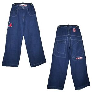 JNCO-COMPRESSOR-Men-039-s-Baggy-26-034-Wide-Leg-Jeans-USA-MADE-Size-33x35-Vintage-90-039-s