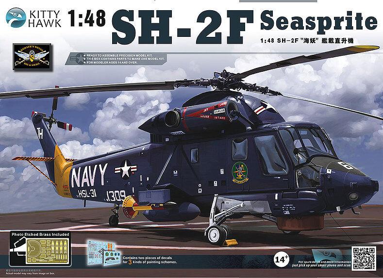 KittyHawk Model kit KH80122 1 48 Kaman Seasprite SH-2F Helicopter