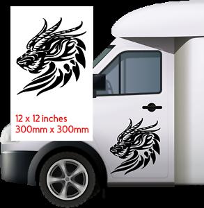 DRAGON-300mm-x300mm-Car-Van-caravan-boat-Window-Sticker-decal-12X12-034