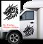 DRAGON-300mm-x300mm-Car-Van-caravan-boat-Window-Sticker-decal-12X12-034 thumbnail 1