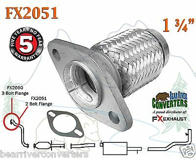 FX2051 Semi Direct Fit Exhaust Flange Repair Flex Pipe Replacement Kit w/ Gasket
