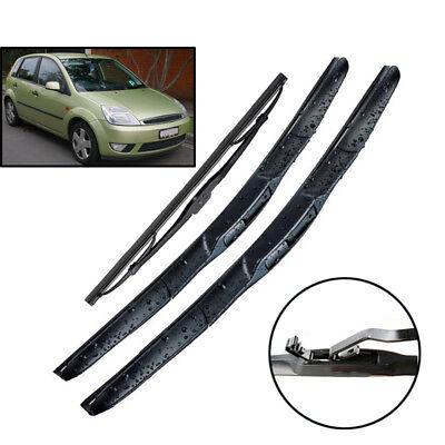 Front /& Rear Windscreen Wiper Blades For Ford Fiesta 2001-2008 Finesse LX