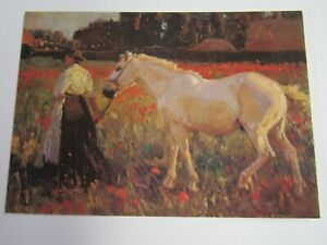Medici Postcard by Sir Alfred Munnings The Poppy Field PC2009