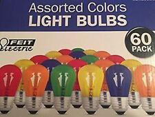 Feit Electric 60 Pack asst Colored Light Bulbs Parties Holidays NEW