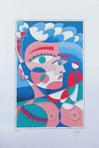 Grafica-d-039-autore-numerata-e-firmata-a-mano-Stefano-Fiore-Arte-Cubista