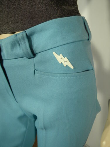 Habille 38 Tres Neuf Etiquett Pantalon Couture Feminin Crw Classe Bleu Azur Avec wqfX1t