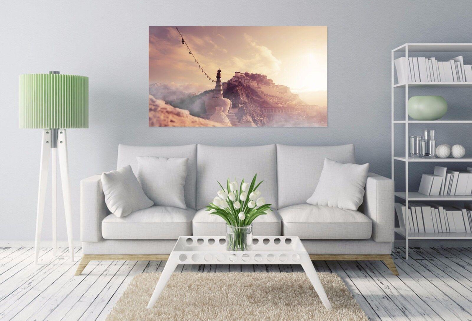 3D Mysterious Potala-Palast 85 Fototapeten Wandbild BildTapete AJSTORE DE Lemon