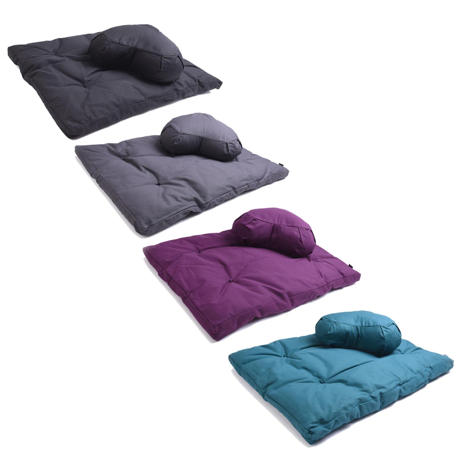 Yoga Studio EU Organic Zabuton & Crescent Cushion Meditation Kit