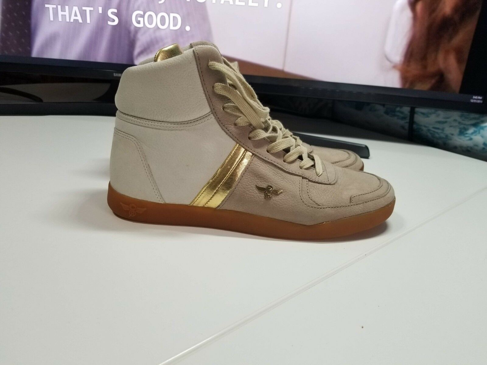 Creative Recreation 'Milano' High Top in Beige gold (Size 7) Preowned