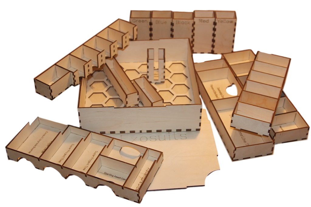 ANACHRONY ANACHRONY ANACHRONY  Game Organiser- SLEEVED CARDS Laser cut 3mm birchply - DIY KIT 2ea309