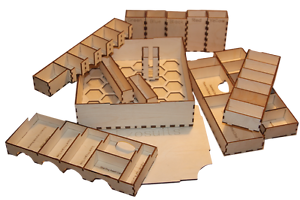 ANACHRONY  Game Organiser DIY KIT SLEEVED CARDS Laser cut 3mm birchply
