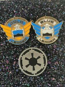 Disney-TRADING-PINS-Star-Wars-Squadron-Leaders-Trio-DISNEYLAND-world-c