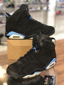 cd0a4b0d437 Air Jordan 6 VI Retro UNC Black University Blue Size 10.5 384664-006 ...