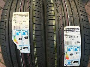 2-X-Nouveau-225-50-18-Bridgestone-Turanza-T001-RFT-pneus-225-50-R18-95-W-Runflat