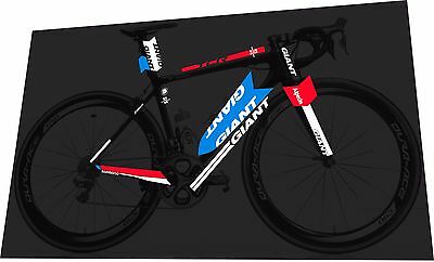 GIANT TCR SL 2017 Team Sunweb Frame Sticker Decal Set