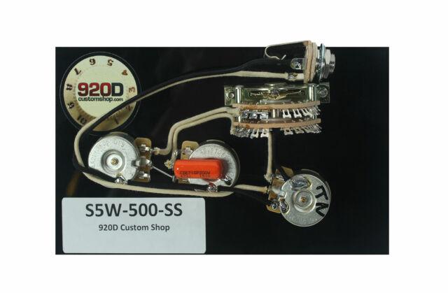 920d custom shop strat 5 way wiring harness 500k super switch for hh920d custom shop strat 5 way wiring harness 500k super switch for hh guitars