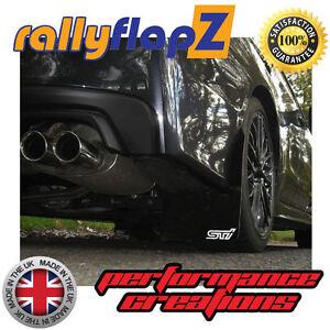 rallyflapz Subaru WRX/STI Stückzahl: 4 Schmutzfänger & Schrauben schwarz STI SML
