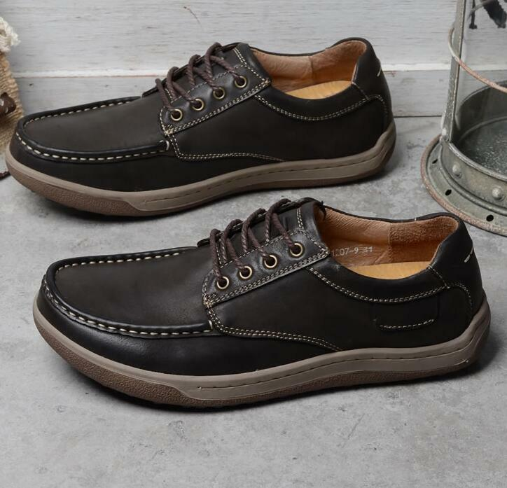 Uomo Lace up Shoes Pelle Driving Shoes Dress Formal Boat Shoes up Soft Sole Shoes Size 2fe769