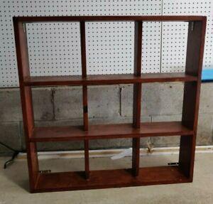 Vintage Wood Curio 3 Tier Shelf