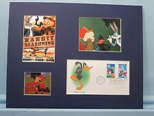"""""""Rabbit Seasoning"""" with Bugs Bunny & the First day Cover of Daffy Duck stamp"""