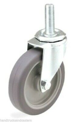 "Set Of Four  Swivel Stem Caster and 3/"" Soft Wheel and 1//2/"" Threaded Stem"