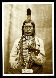 974-Postcard-Low-Dog-Oglala-Sioux-Chief-1875-Photo-David-Barry-NEW