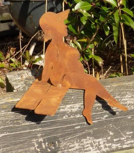 Rost Gartendeko Kantenhocker 14 cm hoch Badenixe Paula Mini aus Metall